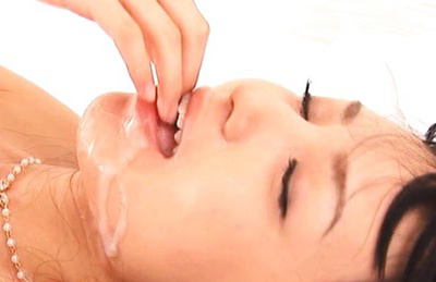 Aino kishi. Dirty slut Aino Kishi takes cumshots in her mouth after a make love