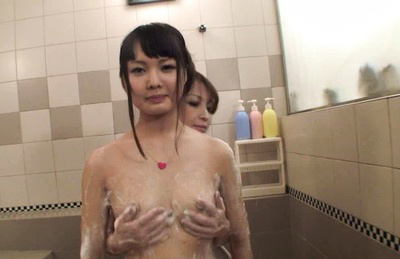 Ruka ishikawa. Ruka aroused as her tits are squeezed then rubs her clit with toe