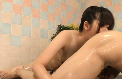 Haru sasaki. Beautiful Haru Sasaki licks butthole of her client after oiling mbuttholeage