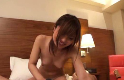 Japanese av model. Lascivious AV Model gets naked and starts kissing with her fucker