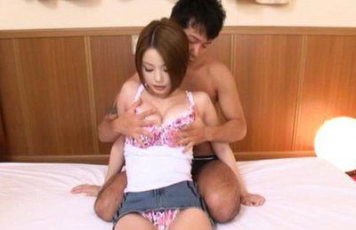 Risa kasumi. Pleasant Risa Kasumi getting carressed by lustful boyfriend