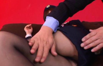 Rina rukawa. Hot Rina Rukawa in policewoman in the uniform that wants a make love