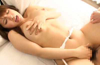 Shiori kamisaki. Pleasant Shiori Kamisaki bangs in her snatch in missionary pose