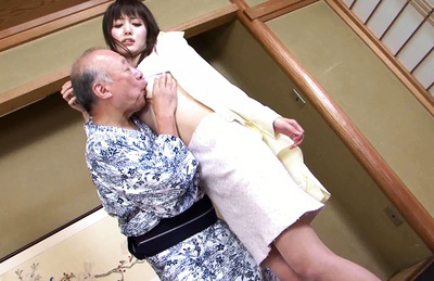Yui igawa. Graceful Yui Igawa fuck with old Japanese banger