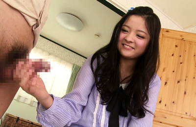 Kokomi suzuki. Kokomi Suzuki asian brunette loves it as she gives a hand job