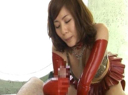 Yuma Asami jerks off this fat cock getting it long, hard, and fuckable
