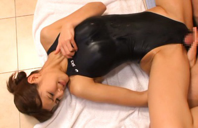 Minami aoi. Skinny Minami Aoi in swim suit pounded rough right on the floor