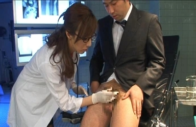 Honami Takasaka strokes a cock to make it nice and hard for her