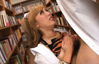 Megu hazuki. Megu lascivious as she gives his cock a boob job then licks it