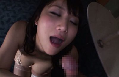Japanese av model. AV Model in lingerie swallows hot portion after excited sucks