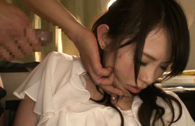 Yuu konishi. Yuu Konishi with hot bottom has thong in mouth while is fingered