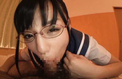 Hitomi miyano. Hitomi Miyano Asian with specs gets dildo over stockings