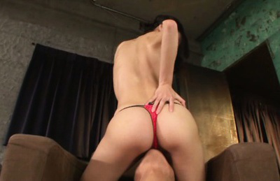 Ren aizawa. Ren Aizawa Asian with naughty ass rides man mouth over thong