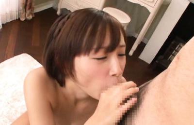 Ayumi kimino. Ayumi Kimino Asian cock sucking three shlongs while getting dildo