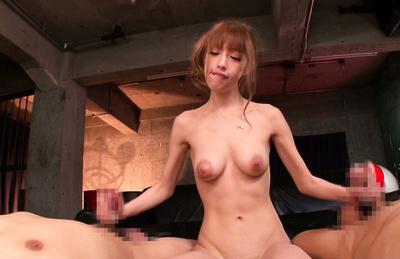 Riho hasegawa. Riho Hasegawa Asian strokes two dicks same time