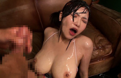 Anri okita. Buxom Anri Okita facialized amazingly in the wild bukkake scene