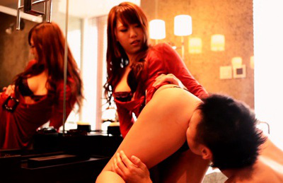 Ria horisaki. Ria Horisaki Asian has naughty assed cheeks kissed