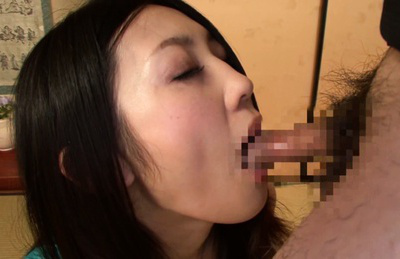 Mayumi chikazawa. Mayumi Chikazawa Asian in blue dress takes whole cock in mouth