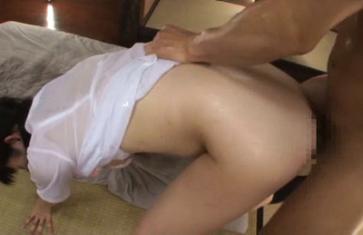 Mira tamana. Mira Tamana Asian has cans touched by guy while is nailed by man