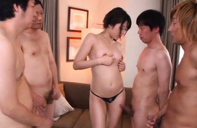 Miku sunohara. Miku Sunohara Asian gets dildo to use in front of horny hunks