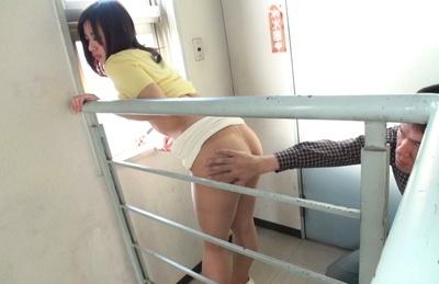 Mai miyashita. Mai Miyashita lets exciting dude to tease her