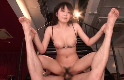 Arisa misato. Arisa Misato Asian with hot curves rides penish on