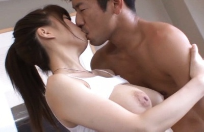 Amateur. Amateur Asian with playful boobs has nooky